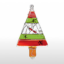 Oh Christmas Tree by Glassworks Northwest (Art Glass Ornament)