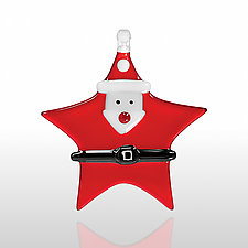 Ho Ho Ho by Glassworks Northwest (Art Glass Ornament)
