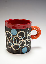 Short Circular Pattern Mug by Vaughan Nelson (Ceramic Mug)