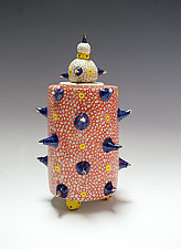 Neon Coral Creature Container by Vaughan Nelson (Ceramic Jar)