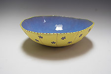 Purple Daisy Bio Bowl by Vaughan Nelson (Ceramic Bowl)