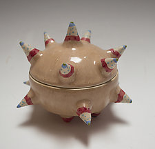 Mottled Brown Urchin by Vaughan Nelson (Ceramic Box)
