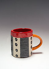 Dash Dot Mug by Vaughan Nelson (Ceramic Mug)