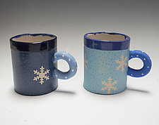 Short Snowflake Holiday Combo Mug Set by Vaughan Nelson (Ceramic Mug)