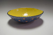 Orange Daisy Bio Bowl by Vaughan Nelson (Ceramic Bowl)