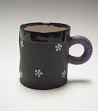 White Daisy Mug by Vaughan Nelson (Ceramic Mug)