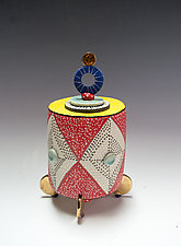 Golden Orb Container Prototype by Vaughan Nelson (Ceramic Box)