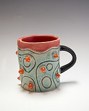 Short Catalina Urchin Mug by Vaughan Nelson (Ceramic Mug)