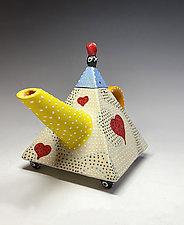 Ripple Heart Teapot by Vaughan Nelson (Ceramic Teapot)