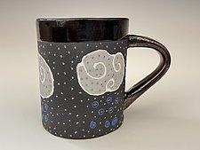 Dark Monsoon Mug by Vaughan Nelson (Ceramic Mug)