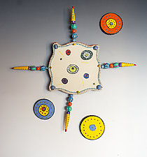 Circle Circle Creature by Vaughan Nelson (Ceramic Wall Sculpture)