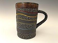 Dark Rainbow Mug by Vaughan Nelson (Ceramic Mug)