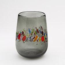 Stemless Wine Glass by Bryan Goldenberg (Art Glass Drinkware)