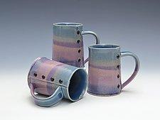 Rainbow Knitted Mugs by Charan Sachar (Ceramic Mug)