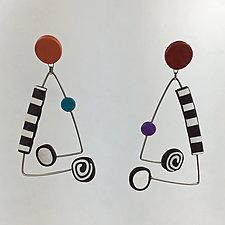 Dot-Dot Earrings in Multi-Color by Arden Bardol (Polymer Clay Earrings)