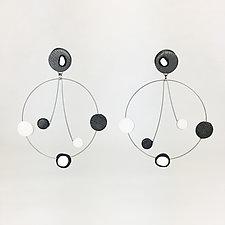 Circle with Dangle by Arden Bardol (Steel Earrings)