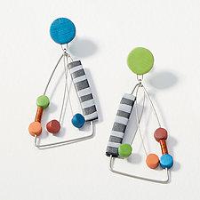 Multi Framed Dangle Earrings by Arden Bardol (Polymer Clay Earrings)