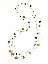 Lime Dots Necklace by Arden Bardol (Silver & Polymer Necklace)