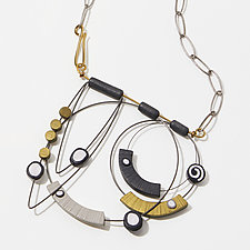Stacked Shapes Neckpiece by Arden Bardol (Polymer Clay Necklace)