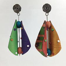 Teardrop Earrings in Multi Mix 4 by Arden Bardol (Polymer Clay Earrings)