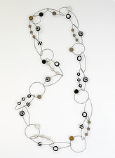 Black & White Dots Necklace by Arden Bardol (Polymer Clay Necklace)