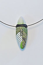 Green Pod Choker by Loretta Lam (Polymer Clay Necklace)