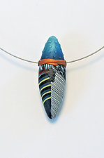 Blue Pod Choker by Loretta Lam (Polymer Clay Necklace)