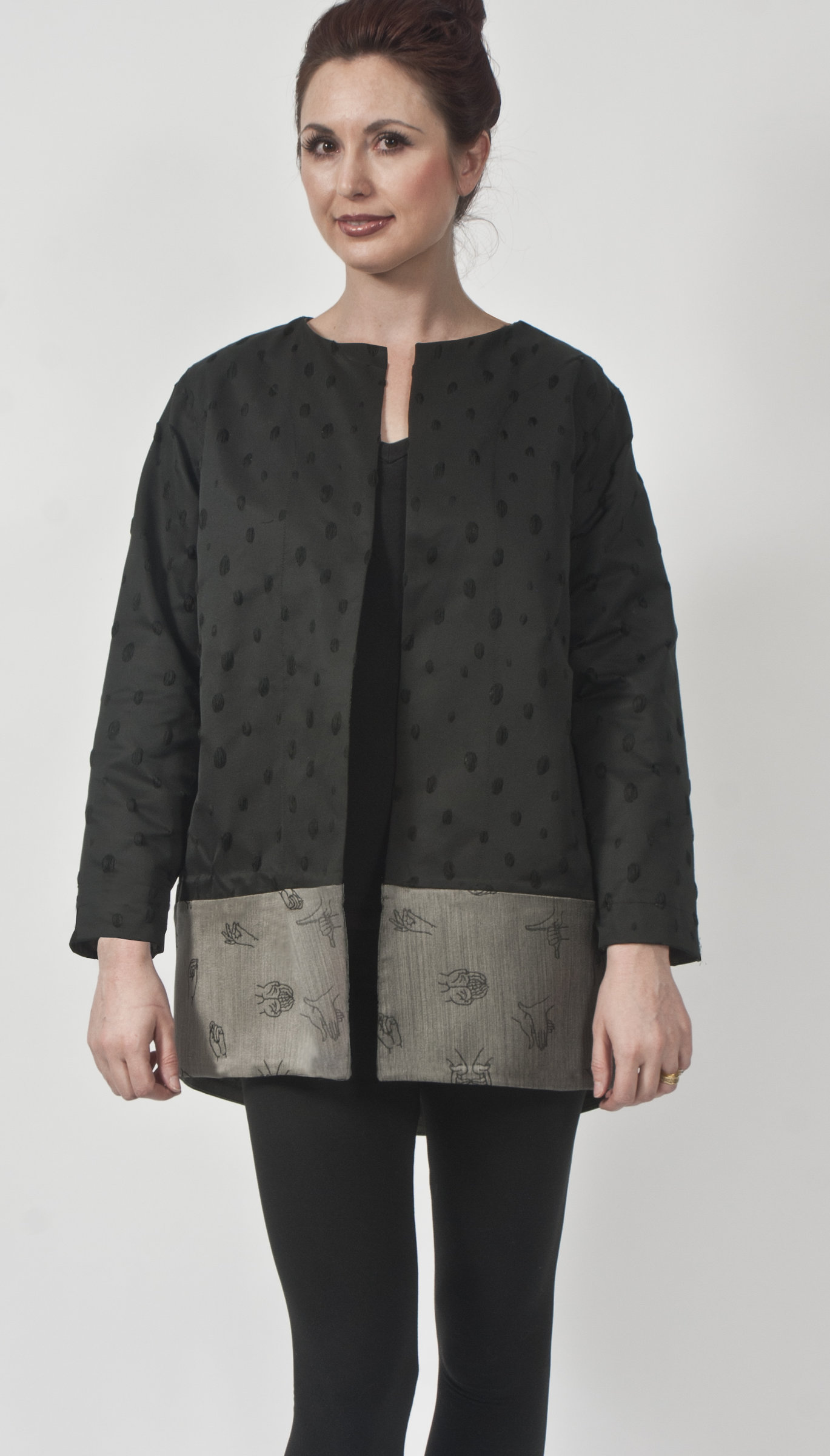 Black Wool & Silk Jacket