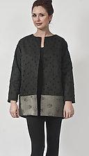 Black Wool & Silk Jacket by Uosis Juodvalkis  and Jacquie Rice  (Silk & Wool Jacket, S (8-10))