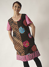 A-Line Dot Dress by Uosis Juodvalkis  and Jacquie Rice  (Cotton Dress, Size L (14-16))