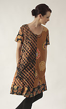 Cinnamon A-Line Dress by Uosis Juodvalkis  and Jacquie Rice  (Cotton Dress, Size L (14-16))