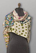 Pastel Dots Silk Scarf by Uosis Juodvalkis  and Jacquie Rice (Silk Scarf)