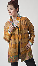 Sunrise Kantha & Wool Crepe Jacket by Uosis Juodvalkis  and Jacquie Rice  (Silk & Wool Jacket, L)