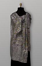 Gray Geometric Silk Scarf by Uosis Juodvalkis  and Jacquie Rice  (Silk Scarf)