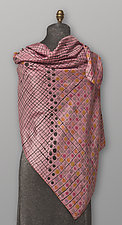 Pink Silk Dots Scarf by Uosis Juodvalkis  and Jacquie Rice  (Silk Scarf)