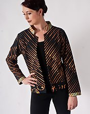 Linear Cotton Jacket by Uosis Juodvalkis  and Jacquie Rice (Cotton Jacket, S (6-8))