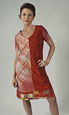 Collage A-Line Dress by Uosis Juodvalkis  and Jacquie Rice  (Cotton Dress, Size S (8-10))