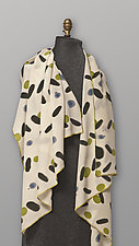 Hand Painted Silk Scarf by Uosis Juodvalkis  and Jacquie Rice (Silk Scarf)