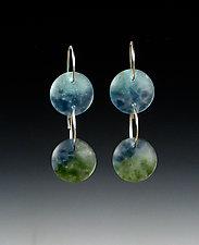 Two Drop Earrings by Carol Martin (Silver & Glass Earrings)