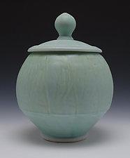 Lidded Jar 2 by Frank Saliani (Ceramic Jar)