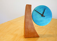 Colorful Adjustable Desk Clock by Todd  Bradlee (Wood Clock)