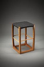 Cube Stool by Todd  Bradlee (Wood Stool)