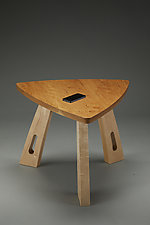 Triangle Side Table by Todd  Bradlee (Wood Side Table)