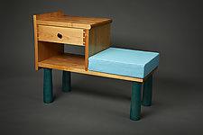 Phone Table Desk by Todd  Bradlee (Wood Desk)