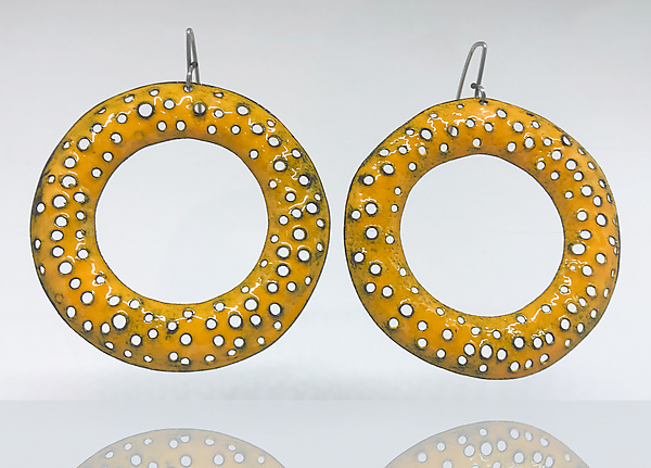 Big Texture Hoop Earrings