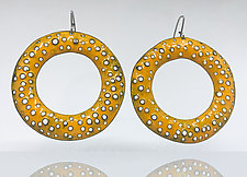 Big Texture Hoop Earrings by Beth Novak (Enamel Earrings)