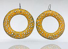 Big Texture Hoop Earrings by Beth Novak (Enamel Earrings)