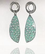 Lines and Textures Earrings by Beth Novak (Silver & Enamel Earrings)
