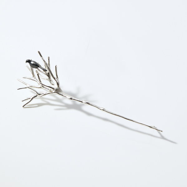 Bird Perched on Twig Pin