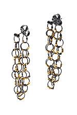 Gold Bead Chain Link Earrings by Lauren Schlossberg (Gold & Silver Earrings)